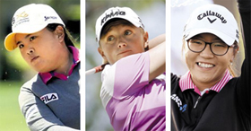 From left, Park In-bee, Stacy Lewis and Lydia Ko