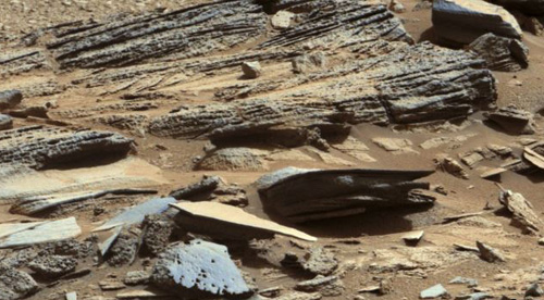 An image from NASAs Mars rover Curiosity shows the surface of the planet in this NASA handout released on Jan. 15, 2013. /Reuters