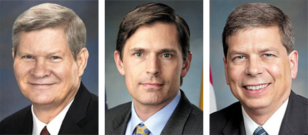 From left, Tim Johnson, Martin Heinrich and Mark Begich