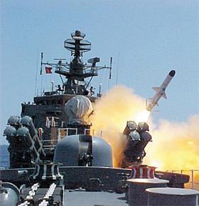 A new North Korean anti-ship missile featured on a propaganda film