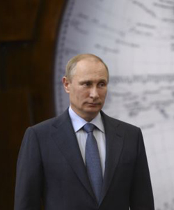 Russian President Vladimir Putin at event in St. Petersburg on June 5, 2014. /Reuters