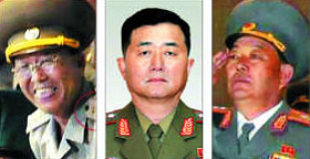 From left, Ri Yong-gil, Jang Jong-nam and Hyon Yong-chol