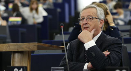 Designated president of the European Commission Jean-Claude Juncker attends a debate on his election at the European Parliament in Strasbourg on July 15, 2014. /Reuters