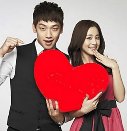 Rain (left) and Kim Tae-hee