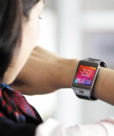 Samsungs Galaxy Gear 2 smartwatch  /Bloomberg