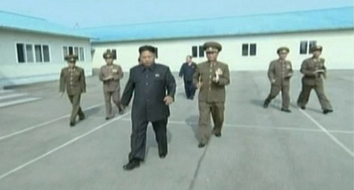 North Korean leader Kim Jong-un was seen limping in footage shown Friday on North Korean Central TV.