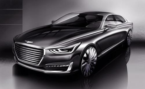 Genesis Car Logo >> Hyundai Offers Glimpse Of 1st Genesis Luxury Car The