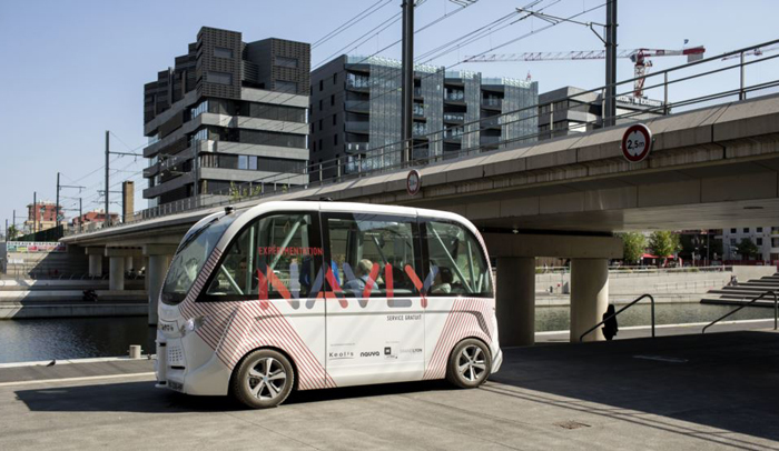 paris tests driverless bus service to fight pollution congestion the chosun ilbo english. Black Bedroom Furniture Sets. Home Design Ideas