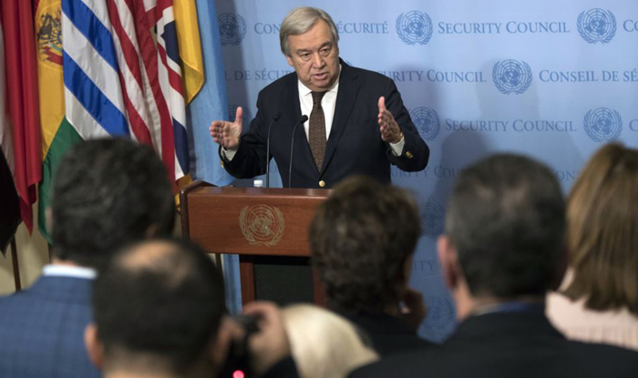 United Nations chief urges turn down rhetoric on Korea