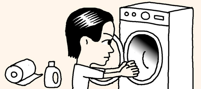 remove mold from washing machine rubber
