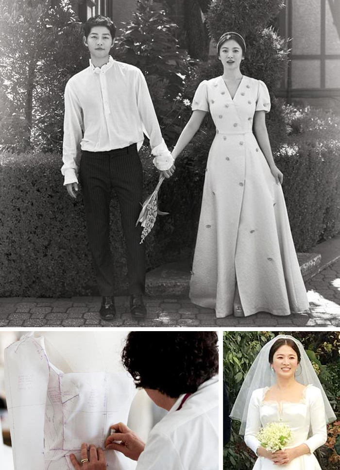 Such Was The Case For Korean Actress Song Hye Kyos Exquisite Wedding Dress Couture Label Wrote On Instagram Post Which Featured Three Photos