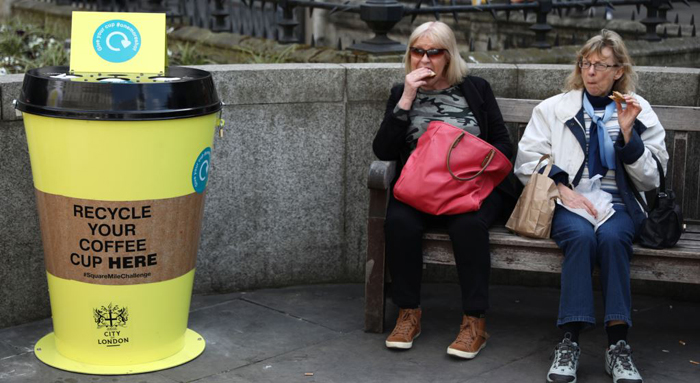Disposable coffee cups should be recycled or banned
