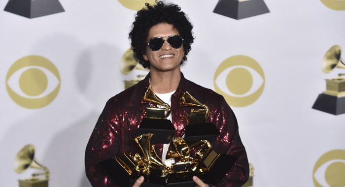 Here are the winners in the top categories at the Grammys