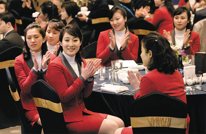 North Korea's female cheering squad: Who are they?