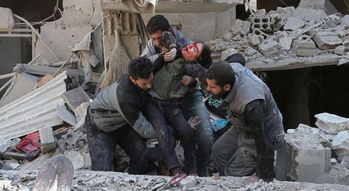 Call to halt Syrian bombing in Ghouta By