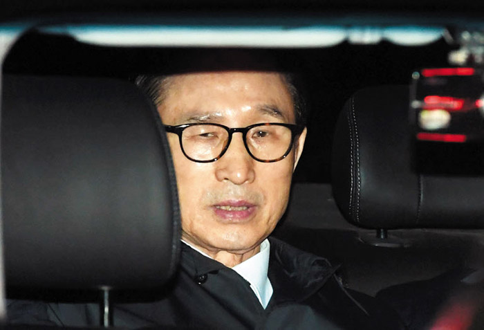 South Korea's ex-president arrested on graft charges