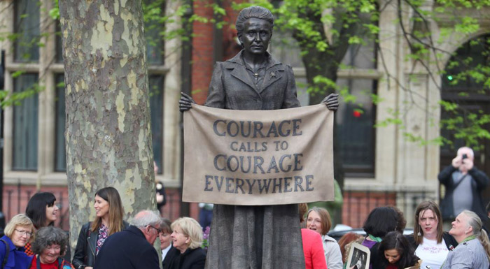Monument to feminist trailblazer Fawcett erected outside London's parliament