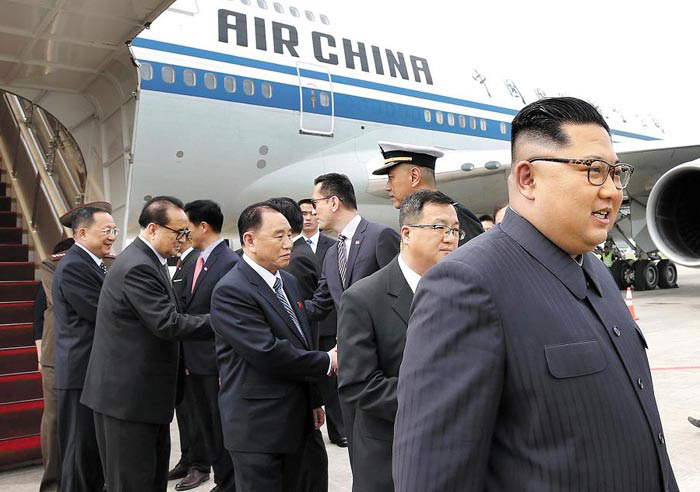 North Korean leader Kim Jong-un arrives in Singapore on Sunday. /Yonhap
