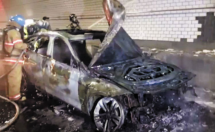 Another BMW Catches Fire - The Chosun Ilbo (English Edition