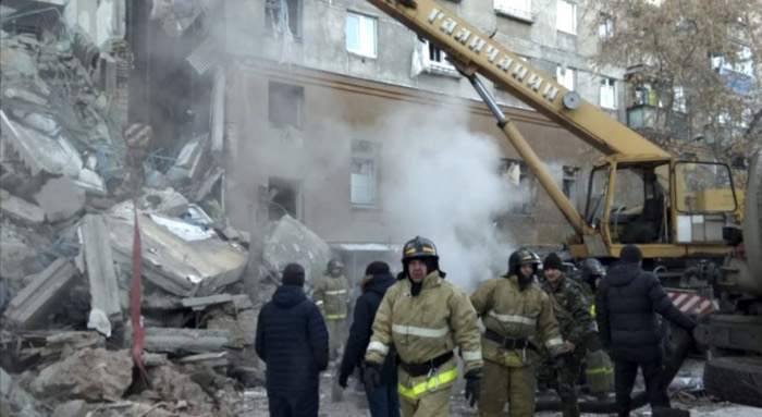 Two dead after tower block collapses in Russian city of Magnitogorsk