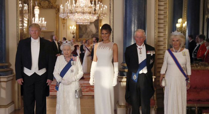 Donald Trump extends Queen the hand of friendship on state visit