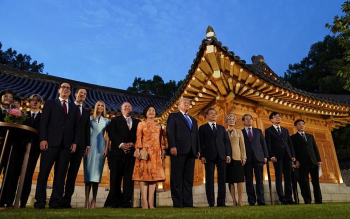 Historic Moment at the Korean Demilitarized Zone