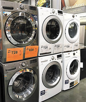 Washing Machines Manufactured By Samsung And Lg Are Displayed At A In Los Angeles California October Yonhap